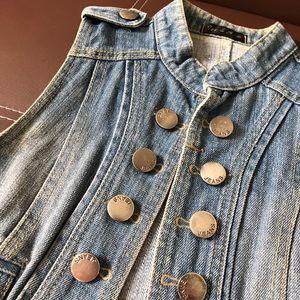 Fashion Jean Open Vest